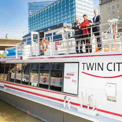 Twin City Liner ist Official Waterway Carrier des 34. Donauinselfests